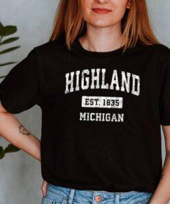 Highland Michigan EST 1835 shirt