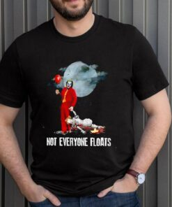 Joker and IT Pennywise not everyone floats shirt