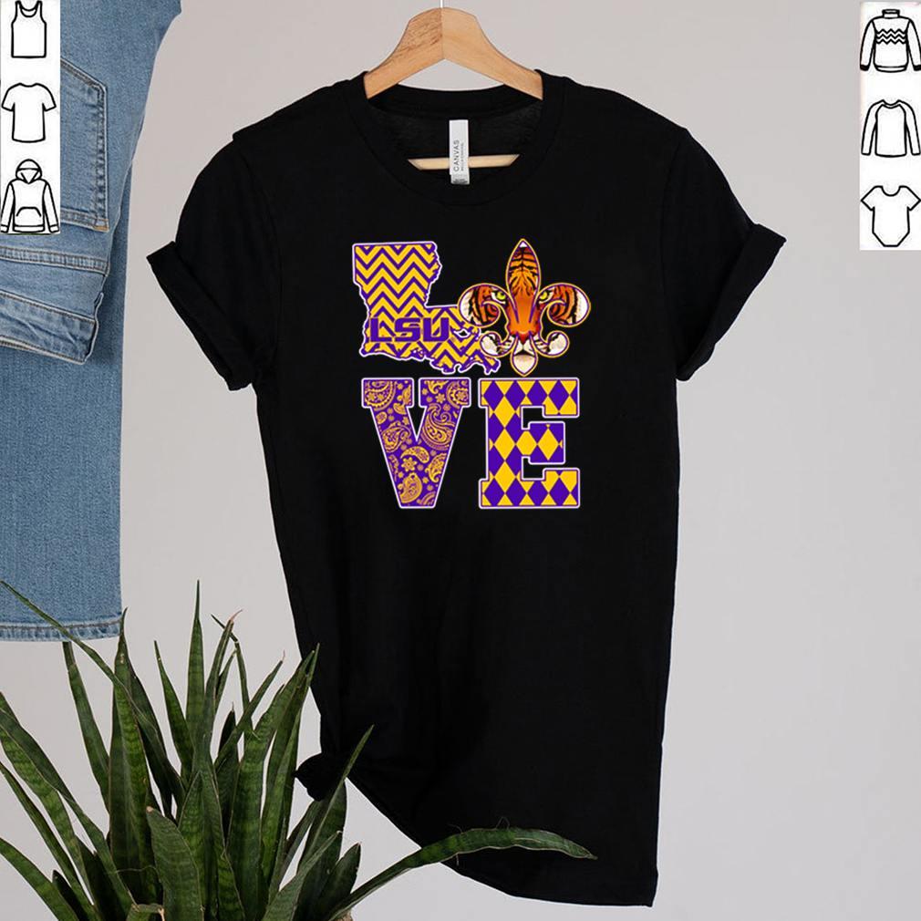 LSU Tigers Love shirt 2