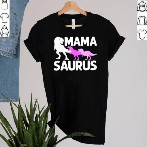 Mama Saurus For Mommy Dinosaur Mom Of Twins shirt