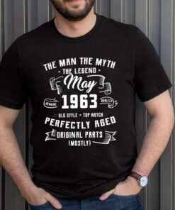 Man Myth Legend May 1963 58th Birthday For 58 Yrs Old shirt 3