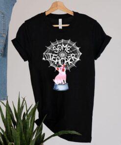 Pig some teacher spiderweb shirt