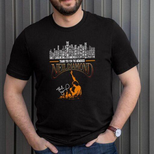 Thank you for the memories Neil Diamond signature shirt 3