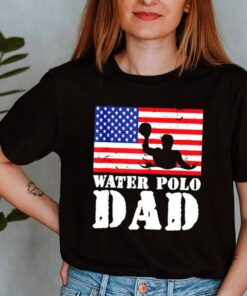 USA American Distressed Flag Water Polo Dad shirt