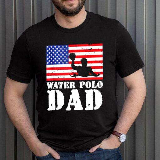 USA American Distressed Flag Water Polo Dad shirt 3