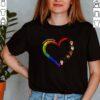 United against hate heart love LGBT shirt