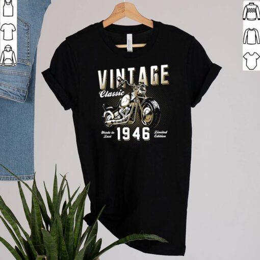 Vintage Motorcycle Born 1946 Classic Motorbike Birthday shirt 2