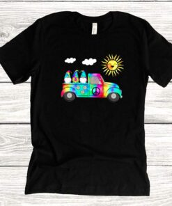 3 Hippie Gnomes In Truck Tie Dye Hat Psychedelic Sun shirts 8
