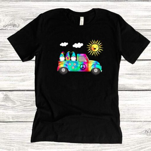 3 Hippie Gnomes In Truck Tie Dye Hat Psychedelic Sun shirts 6