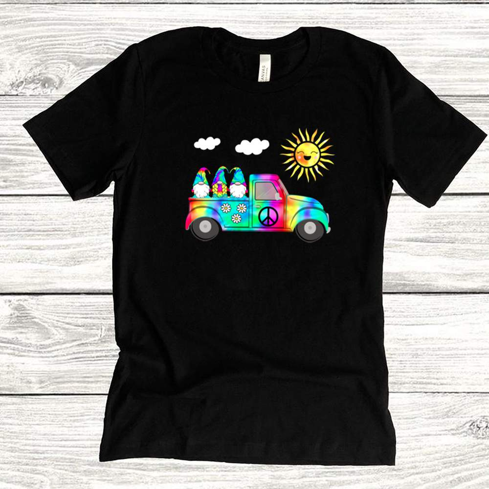 3 Hippie Gnomes In Truck Tie Dye Hat Psychedelic Sun shirts 14