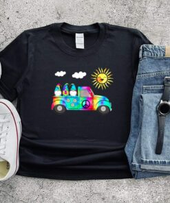 3 Hippie Gnomes In Truck Tie Dye Hat Psychedelic Sun shirts 10