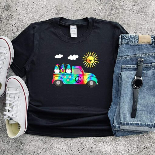 3 Hippie Gnomes In Truck Tie Dye Hat Psychedelic Sun shirts 7