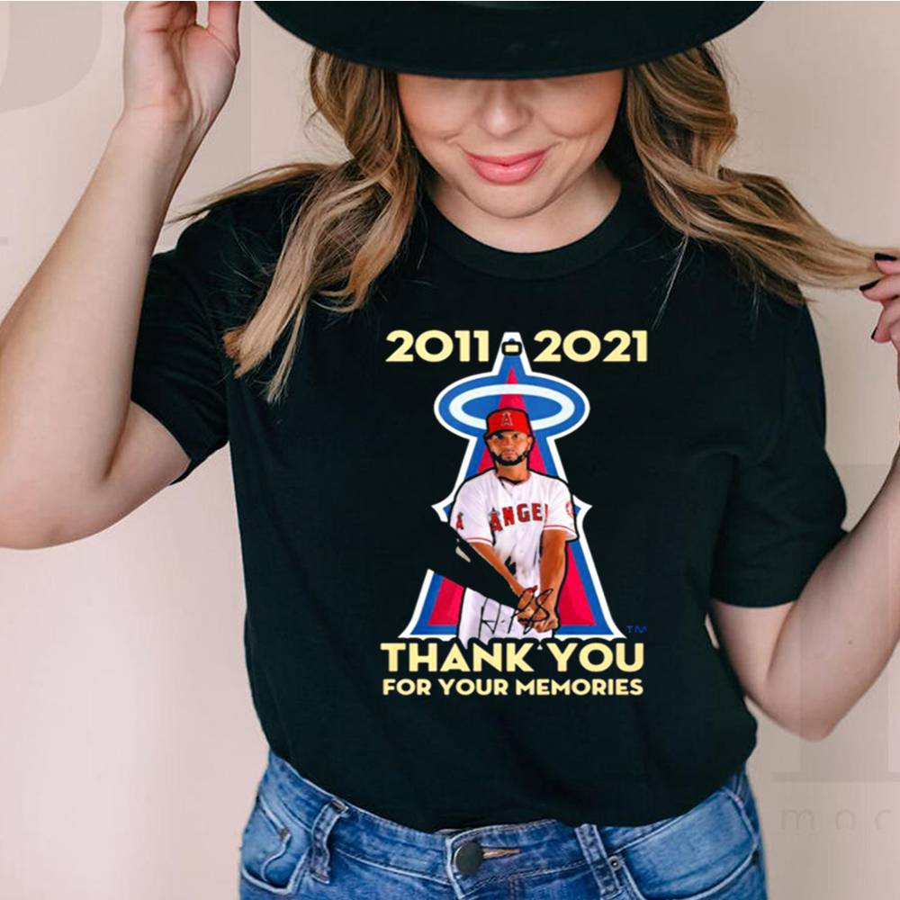 Albert Pujols 2011 2021 thank you for your memories shirt