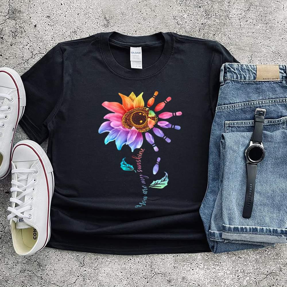 Bowling Sunflower You Are My Sunshine shirt 14