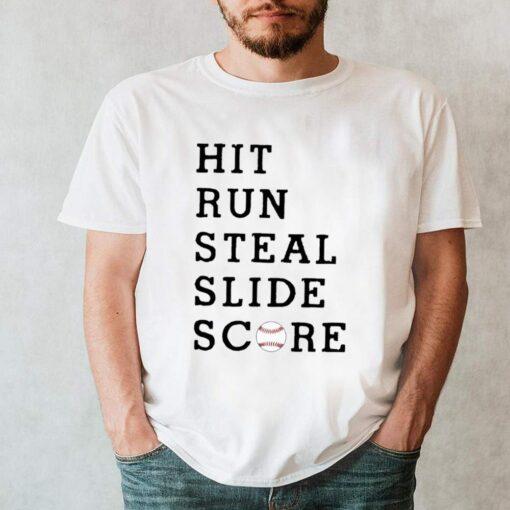 Hit run steal slide score shirt 7