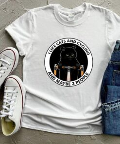 I like cats and cycling and maybe 3 people shirt 8
