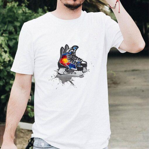 Colorado Hockey Skates T Shirt