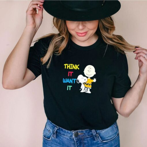 Think it want it Snoopy charlie shirt
