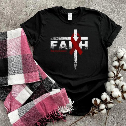 Brain Aneurysm Awareness Christian Faith & Cross T Shirt