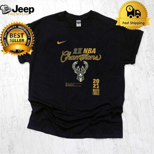 Milwaukee Bucks 2X NBA Champions 2021 NBA Finals shirt