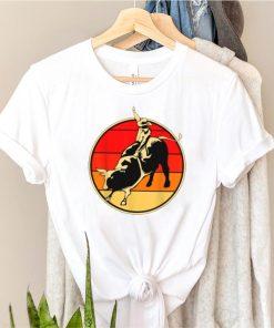 Bull Riding Vintage Sunset T Shirt