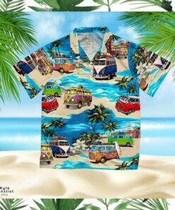 Bus Minivan Hippi Car Art Hawaii Shirt