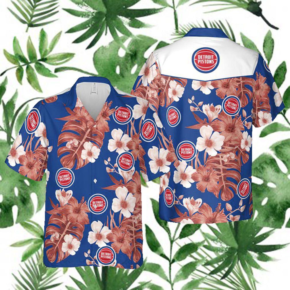 Detroit Pistons NBA Hawaii Floral Hawaii Shirt 3