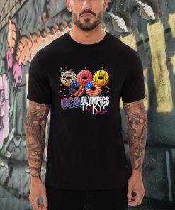 Donuts USA 2021 sports America Japan Tokyo T Shirt