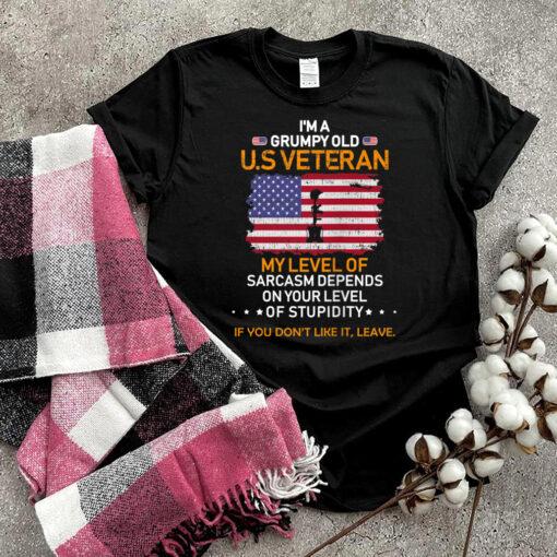 Funny Veterans Day I'm a Grumpy Old U.S Veteran Cool Gift Tank Top T shirt