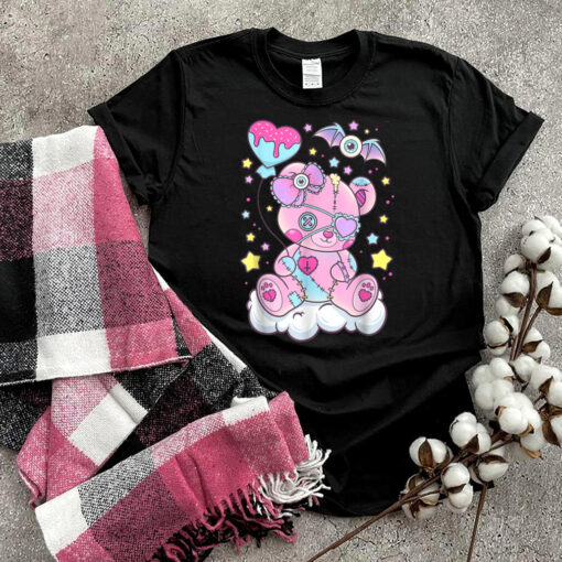 Kawaii Pastel Goth Cute Creepy Teddy Bear T-Shirt