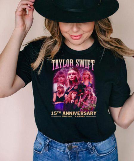 Taylor Swift 15th Anniversary 2006 2021 8 Albums shirt