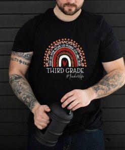 Third Grade Teacher Leopard Rainbow 3rd Grade Teacher Life T Shirt