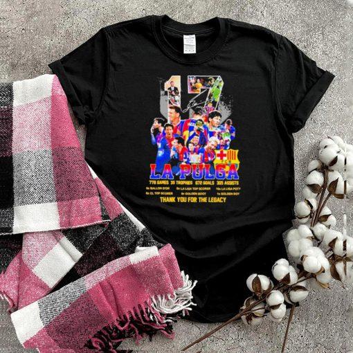 17 La Pulga 228 Games 35 Trophes 672 Goals 305 Assists Thank You For The Memories shirt