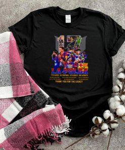 17 fcb la pulga 778 games 35 trophies 672 goals 205 assists thank you for the memories shirt