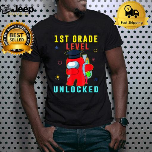1ST Grade level unlocked Dabbing Amongs Us Back To School T-Shirt