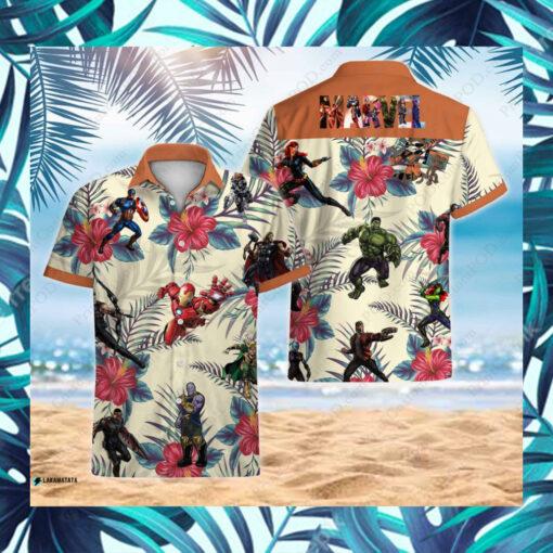 Characters Avengers Disney Marvel Superhero Movie Hawaii Shirt