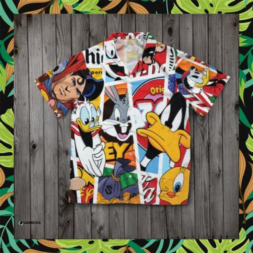 Comics Character Cartoon Disney Pattern Cool Hawaii Shirt