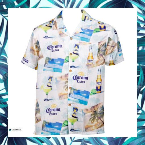 Corona Extra White Beer Drink Bar Club Party Hawaii Shirt