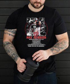 31 max scherzer washington nationals 2015 2021 signature thank you for the memories shirt