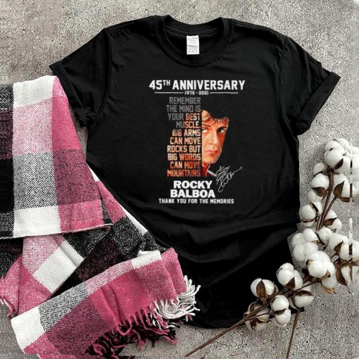 45th anniversary 1976 2021 rocky balboa thank you for the memories shirt