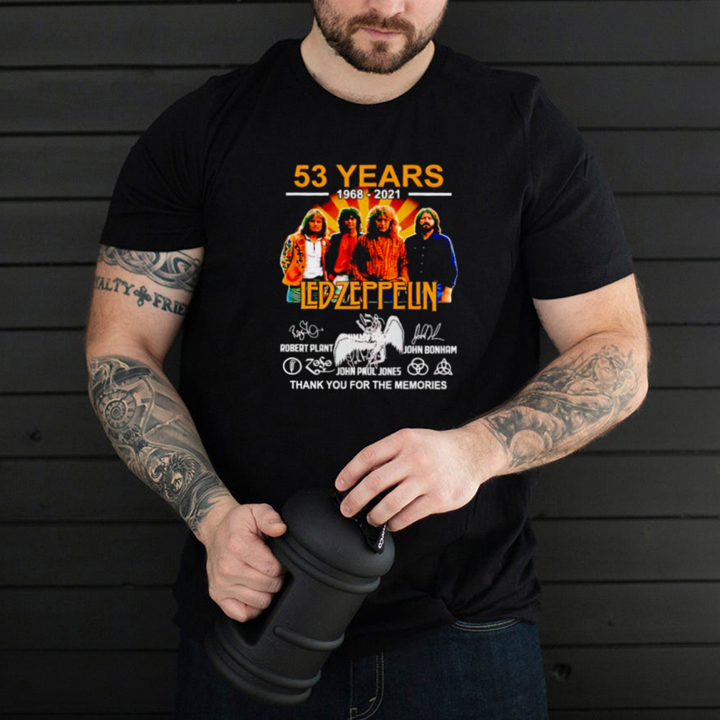 53 years Led Zeppelin 1968 2021 thank you for the memories shirt