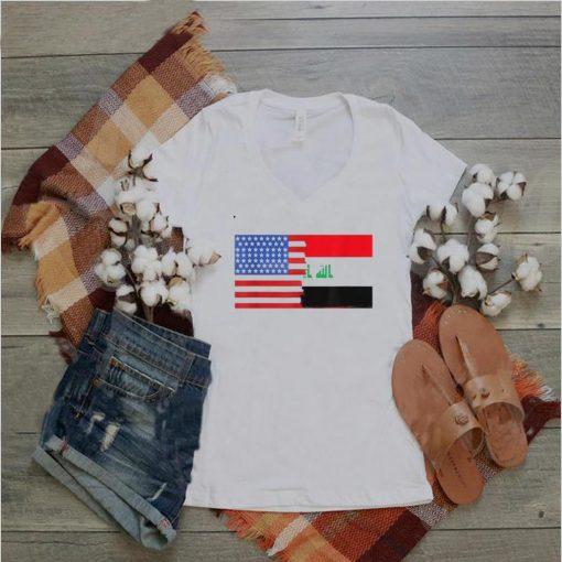America Flag Heritage Iraqi American Half Iraq Half T shirt