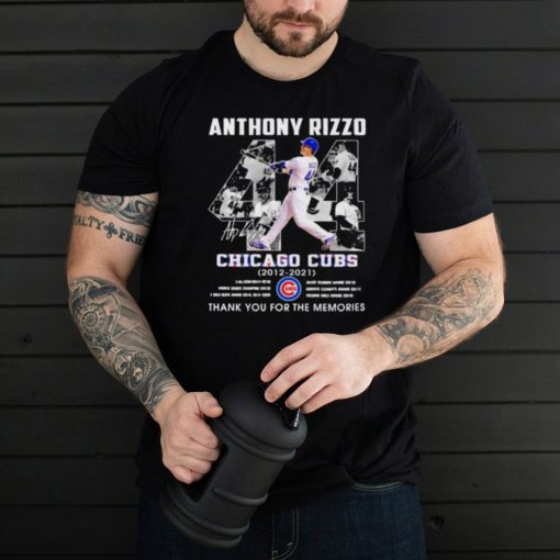 Anthony rizzo chicago cubs 2012 2021 thank you for the memories signature shirt