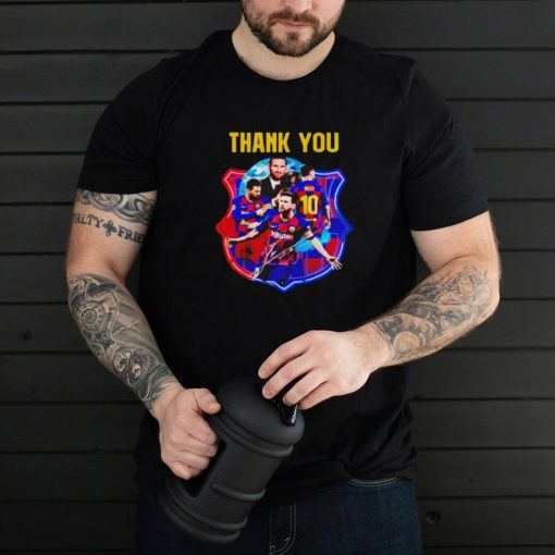 Barca thank you Lionel Messi 10 shirt