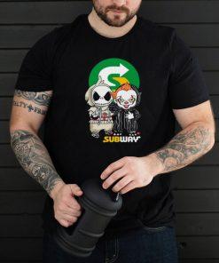 Best Friends Jack Skellington And Baby Pennywise Subway Logo shirt