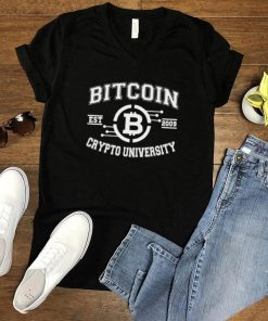 Bitcoin Crypto University To The Moon EST 2009 T Shirt
