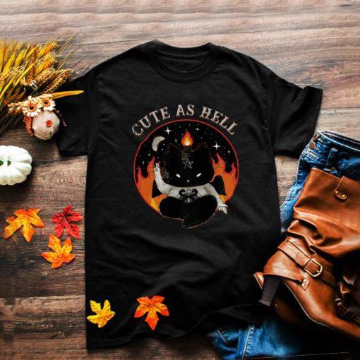 Black Cat Cute As Hell shirt
