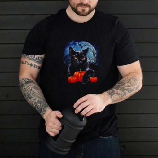Black Cat moon light pumpkin shirt