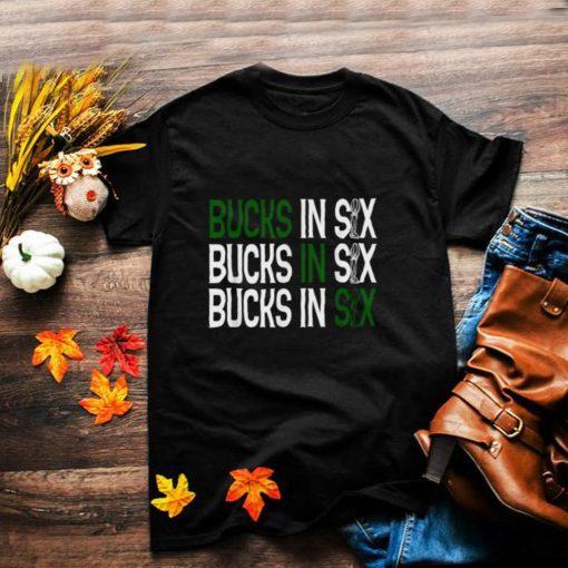 Bucks in Six Championship Trophy T Shirt