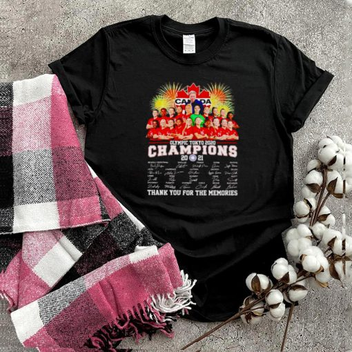 Canada Olympic Tokyo 2020 champions 2021 thank you for the memories shirt